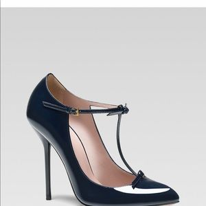 Gucci Beverly patent leather t-strap